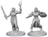 Pathfinder Battles: Deep Cuts Unpainted Miniatures - Elf Female Fighters