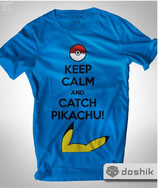 PLAYERA KEEP CALM AND CATCH PIKACHU