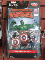 Marvel Legends Series - Secret Wars Comic 2 Pack Shield- Wielding Heroes