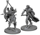 Pathfinder Battles: Deep Cuts Unpainted Miniatures - Elf Male Fighters