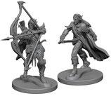 Pathfinder Battles: Deep Cuts Unpainted Miniatures - Elf Male Fighters