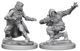 Pathfinder Battles: Deep Cuts Unpainted Miniatures - Human Male Rogues