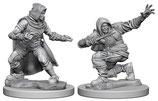 Pathfinder Battles: Deep Cuts Unpainted Miniatures - Human Male Rogues