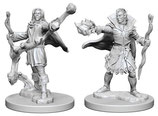 Pathfinder Battles: Deep Cuts Unpainted Miniatures - Elf Male Sorcerers