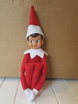 Weihnachtself Junge rot