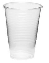 Plastikbecher 0,2 l, transparent 200 ccm