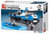 Polizei Truck mit Boot