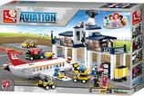 Flugzeug Workshop mit Kontrollturm