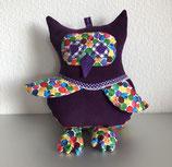 Uhu Kissen Nimmersatt (violet-bunt)