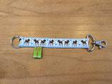 Schlüsselanhänger Reh (hellblau)