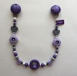 Kinderwagen-Kette Purple Hearts (lila-grau-violet)