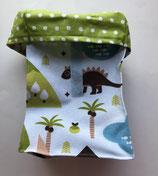 Lunchbag Dinosaurier (blau-grün-bunt)