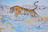 Springender Tiger