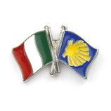 Pin / Anstecker Camino Italien Flagge