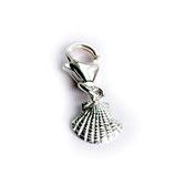 scallop pendant / charm, 925 silver