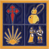 ceramic tile st. james motifs