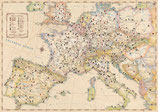 Pilgerwege und -orte in Europa - Faltkarte