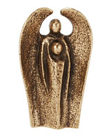 guardian angel bronze figurine