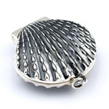 scallop medallion, 925er sterling silber