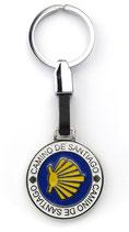 Schlüsselanhänger rund Camino de Santiago