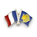 Pin / Anstecker Camino Frankreich Flagge