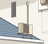 2階取付工事・室外機屋根置き(追加工事)当店購入