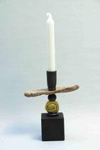 Kerzenleuchter mit Treibholz