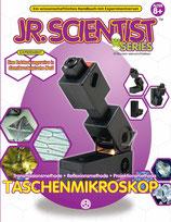 Jr. Scientist Taschenmikroskop Bausatz mit Buch Experimentierkasten Mikroskop