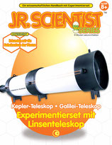 Jr. Scientist Linsenteleskop Galilei Kepler Teleskop Bausatz mit Buch Experimentierkasten