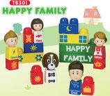 Tutor Blocks™ Serie 301 Happy Family Kleinkind Magnetbausteine Lernbausteine Senioren Memory-Bausteine Babyspielzeug Sensorikspielzeug ab +6 Monate
