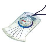 Kartenkompass mit drehbarem Kompassring und Umhängeband