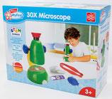 EDU Toys Mein Erstes Mikroskop - 30x Mikroskop für Kleinkinder Experimentierkasten mit bebildertem Handbuch in Deutscher Sprache Kindermikroskop