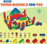 Tutor Blocks™ Serie 501 Baustein- und Figurenpaket 100Stück Kleinkind Magnetbausteine Lernbausteine Senioren Memory-Bausteine Babyspielzeug Sensorikspielzeug ab +6 Monate