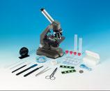 NEU: Dual Mono - Mikroskop 40-640x Schülermikroskop Wechselokulare Drehkopf Zubehör