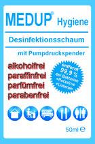 MEDUP® Hygiene - Desinfektionsschaum zur Hygiene 99,9% viruzid und bakterizid, alkoholfrei, paraffinfrei, parfümfrei