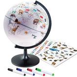 DIY Kinder Globus 28cm mit Aufklebern und Malstiften Lernglobus