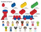 Tutor Blocks™ Einzelfiguren Kleinkind Magnetbausteine Lernbausteine Senioren Memory-Bausteine Babyspielzeug Sensorikspielzeug ab +6 Monate