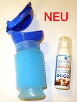 Uriwell 800 ml Urinflasche für sie und ihn, wiederverwendbares Mobilurinal