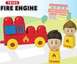 Tutor Blocks™ Serie 103 Feuerwehr Kleinkind Magnetbausteine Lernbausteine Senioren Memory-Bausteine Babyspielzeug Sensorikspielzeug ab +6 Monate