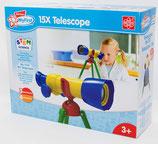 EDU Toys Mein Erstes Teleskop – 15xTeleskop und Experimentierkasten für Kleinkinder mit bebildertem Handbuch in Deutscher Sprache
