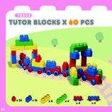 Tutor Blocks™ Serie 503 Baustein- und Figurenpaket 60Stück Kleinkind Magnetbausteine Lernbausteine Senioren Memory-Bausteine Babyspielzeug Sensorikspielzeug ab +6 Monate