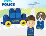 Tutor Blocks™ Serie 104 Polizei Kleinkind Magnetbausteine Lernbausteine Senioren Memory-Bausteine Babyspielzeug Sensorikspielzeug ab +6 Monate