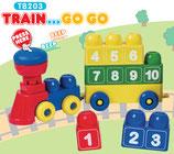 Tutor Blocks™ Serie 203 Zahlenzug Kleinkind Magnetbausteine Lernbausteine Senioren Memory-Bausteine Babyspielzeug Sensorikspielzeug ab +6 Monate