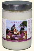 Kokosöl kaltgepresst nativ - DOGenesis - von Robert Franz - 500 ml