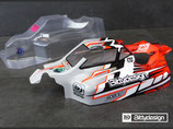 BITTYDESIGN FORCE CLEAR BODY FOR KYOSHO TKI4 BDFRC-K004