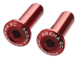 Wheelie Bar-Achse, Aluminium, rot eloxiert (2) AR320186