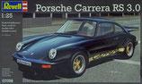 Revell  - Modellbausatz - Porsche Carrera RS 3.0 im Maßstab 1:24, schwarz 07058