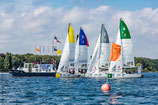 "Sports sailing boats teamevent ""J 70"" of the federal sailing league - mini regatta / match race for up to 50 people"