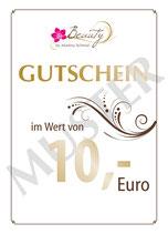 10-EURO-GUTSCHEIN FÜR IHN