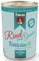 Fellicita Rind & Gemüse 400g (Hunde)